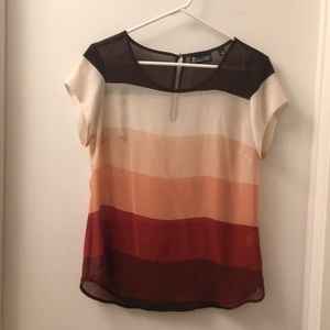 NY&Co striped sheer blouse. Hardly worn